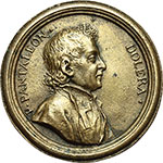 obverse:  Pantaleone Dolera (1656-1713), clerico ed autore Medaglia celebrativa.