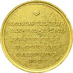 reverse:  Sede Vacante (1829) Medaglia emessa dal Prefetto dei Sacri Palazzi Apostolici e Governatore del Conclave Monsignore Luigi Del Drago.