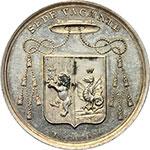 obverse:  Sede Vacante (1830-1831). Medaglia 1830 emessa dal Prefetto dei Sacri Palazzi Apostolici e Governatore del Conclave Monsignore Luigi Del Drago.