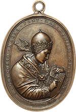 obverse:  Gregorio XVI (1831-1846), Bartolomeo Alberto  Cappellari Medaglia 1831 per l Ospedale Apostolico. Misura 47.4X61 mm.