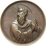 obverse:  Gregorio XVI (1831-1846), Bartolomeo Alberto  Cappellari Medaglia straordinaria 1834, per la visita del Pontefice all Ospizio Apostolico del San Michele a Roma