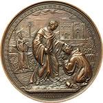 reverse:  Gregorio XVI (1831-1846), Bartolomeo Alberto  Cappellari Medaglia straordinaria 1834, per la visita del Pontefice all Ospizio Apostolico del San Michele a Roma