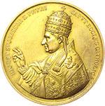 obverse:  Gregorio XVI (1831-1846), Bartolomeo Alberto  Cappellari Medaglia 1845