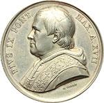 obverse:  Pio IX  (1846-1878), Giovanni Mastai Ferretti Medaglia annuale A.XVII.