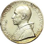 obverse:  Pio XII (1939-1958), Eugenio Pacelli Medaglia annuale A.I