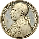 obverse:  Pio XII (1939-1958), Eugenio Pacelli. Medaglia annuale A. III