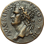 obverse:  Venezia  Agrippa (deceduto nel 12 d.C.) Medaglia.