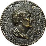 obverse:  Tito Livio (59 a.C.-17 d.C.), Storico Medagllia uniface.