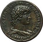 obverse:  Antinoo, favorito di Adriano (deceduto nel 130 d.C.) Medaglia, XVI sec.