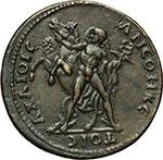 reverse:  Antinoo, favorito di Adriano (deceduto nel 130 d.C.) Medaglia, XVI sec.
