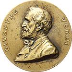 obverse:  Giuseppe Verdi (1813-1901) Medaglia commemorativa per il I anniversario della morte.