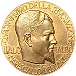 obverse:  Italo Balbo (1896-1940) Medaglia A. XIX, commemorativa per il I anniversario della morte.