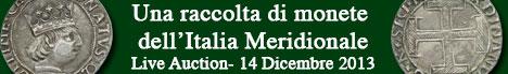 Banner Artemide Aste - Una raccolta di monete dell'Italia Meridionale