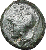 obverse:   AE Half unit, after 276 BC.