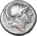 obverse:   AR struck Didrachm, c. 241-235 BC.