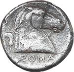reverse:   AR struck Didrachm, c. 241-235 BC.