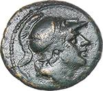 obverse:   AE struck Litra, 241-235 BC.