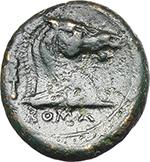 reverse:   AE struck Litra, 241-235 BC.