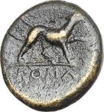 reverse:   Half-bronze, c. 234-231 BC.