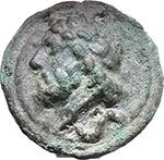 obverse:  Libral (Janus/Prow to right) series. AE Semis, c. 225-217 BC.