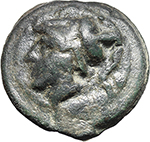 obverse:  Libral (Janus/Prow to right) series. AE Triens, c. 225-217 BC.