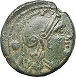 obverse:  Corn-ear series. AE Uncia, Sicily c. 214-212.