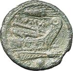 reverse:  Corn-ear series. AE Uncia, Sicily c. 214-212.
