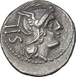 obverse:  Anonymous series. AR Sestertius, 214-213 BC.