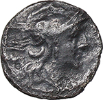 obverse:  Anonymous series. AR Sestertius, from 211 BC.
