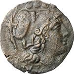 obverse:  Sextantal series, Sardinia. AE Triens, Sardinia after 211 BC.
