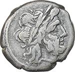 obverse:  Crescent (first) series. AR Victoriatus, c. 207 BC.