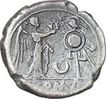 reverse:  Crescent (first) series. AR Victoriatus, c. 207 BC.