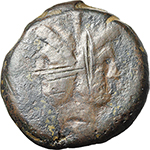 obverse:  Crescent (first) series. AE As, c. 207 BC.
