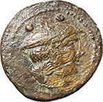 obverse:  C series. AE Sextans, 211-208 BC., Sardinia.