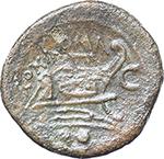 reverse:  C series. AE Sextans, 211-208 BC., Sardinia.