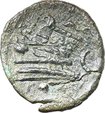 reverse:  Corn-ear and KA series. AE Sextans, 207-206 BC., Sicily.