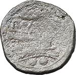 reverse:  Corn-ear series. AE Sextans, Sicily c. 211-210 BC.