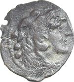 obverse:  Star (first) series. AE Quadrans, 206-195 BC.