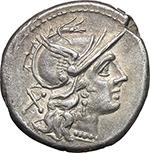 obverse:  Crescent (second) series. AR Denarius, c. 194-190.