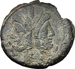 obverse:  Victory and LFP series. AE As, c. 189-180 BC.