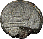 reverse:  Victory and LFP series. AE As, c. 189-180 BC.