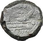 reverse:  Q. Marius. AE Quadrans, c. 189-180 BC.
