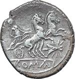 reverse:  Fly series. AR Denarius, 179-170 BC.