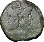 obverse:  A. Caecilius. AE As, c. 169-158 BC.