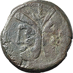 obverse:  PT or TP series. AE As, c. 169-158 BC.
