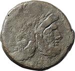 obverse:  L. Cornelius Cinna. AE As, c. 169-158 BC.