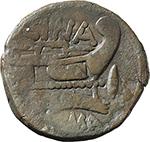 reverse:  L. Cornelius Cinna. AE As, c. 169-158 BC.