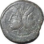 obverse:  Terentius Varo. AE As, c. 169-158 BC.