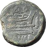 reverse:  Terentius Varo. AE As, c. 169-158 BC.