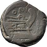 reverse:  Q. Opimius. AE As, c. 169-158 BC.